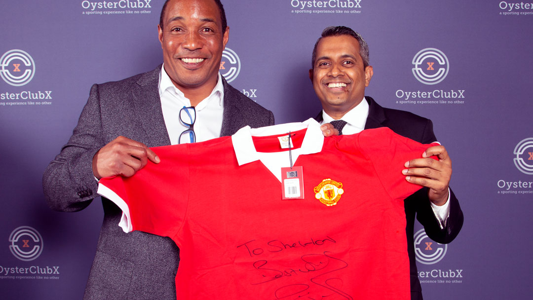 Paul Ince - Celebrity meet and greet at Adapt Events OysterClub showcase.