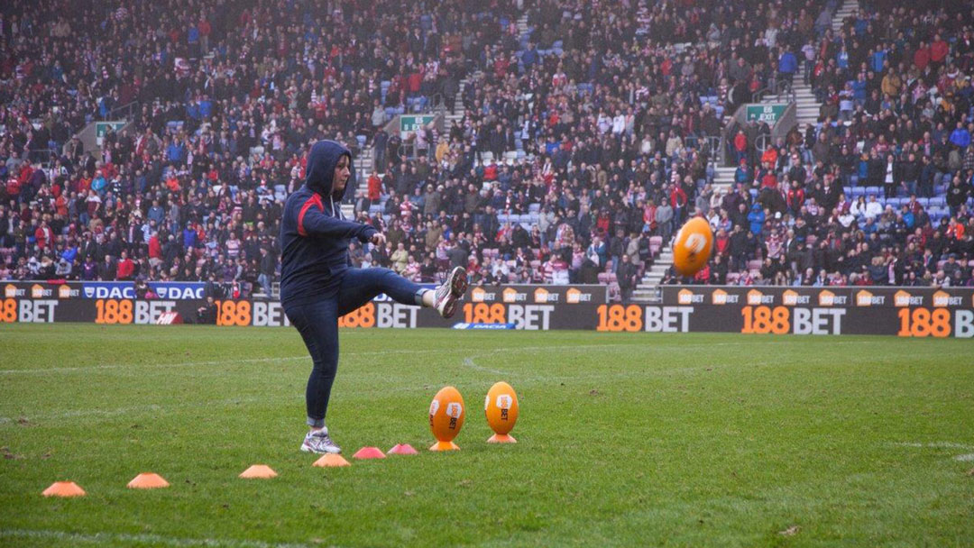 A contest goes for glory in the Adapt Events half-time challenge at Wigan Warriors