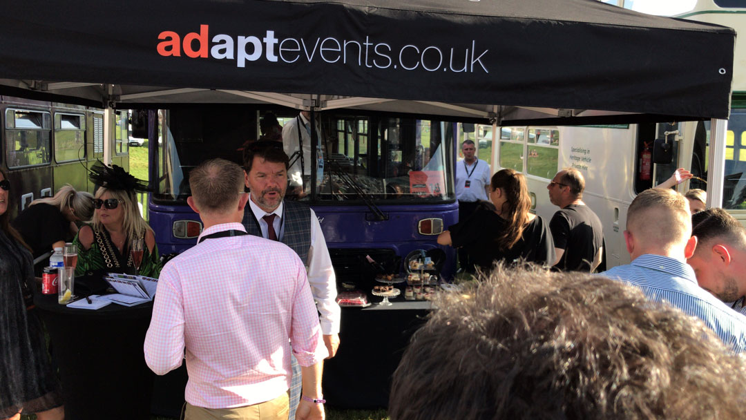 Adapt Events guest enjoy the refreshments at Epsom.