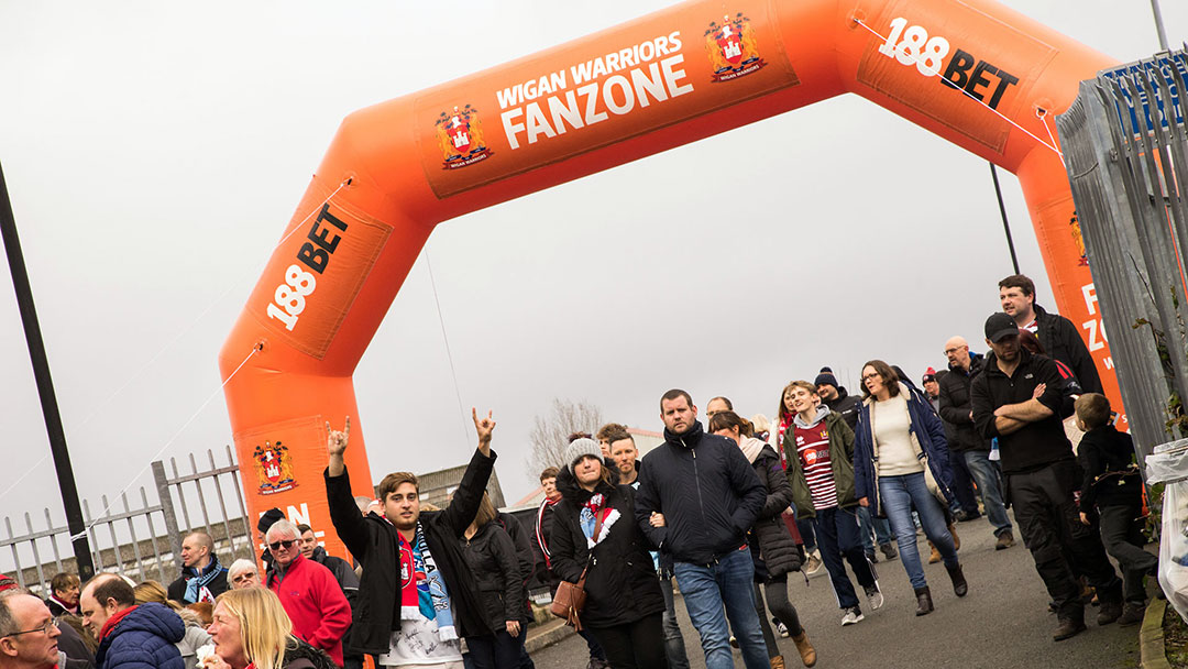 entrance of Wigan Warriors Fanzone
